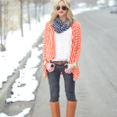 layered in stripes
