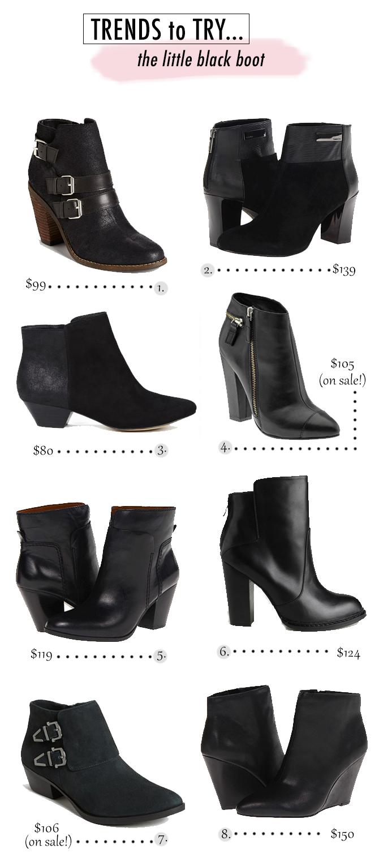 Little Black Ankle Boots