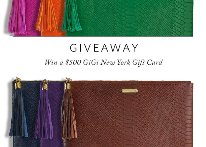 $500 Giveaway with GiGi New York!