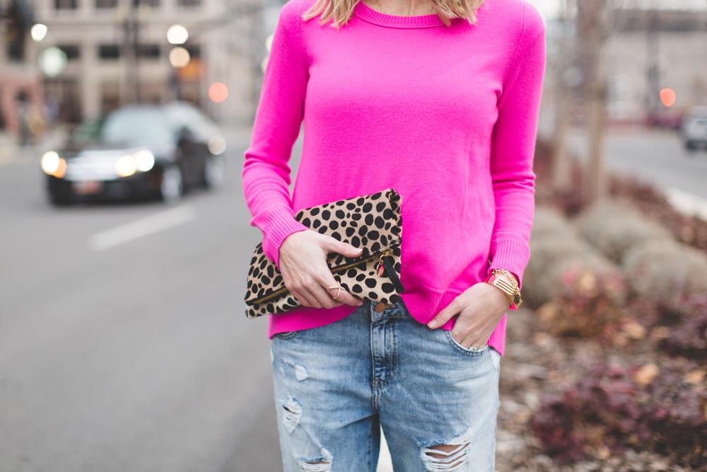 Little-Miss-Fearless_pink-DVF-sweater-leopard-clutch-13