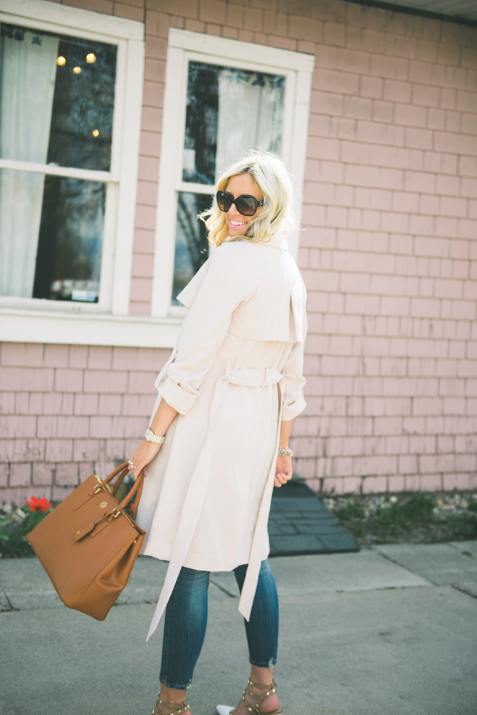 LittleMissFearless_H&M blush pink trench coat spring 2015_4