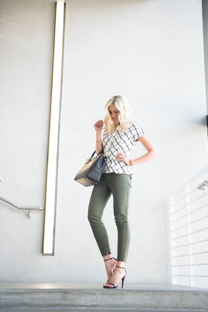 LittleMissFearless_office style outfit ideas check peplum 6