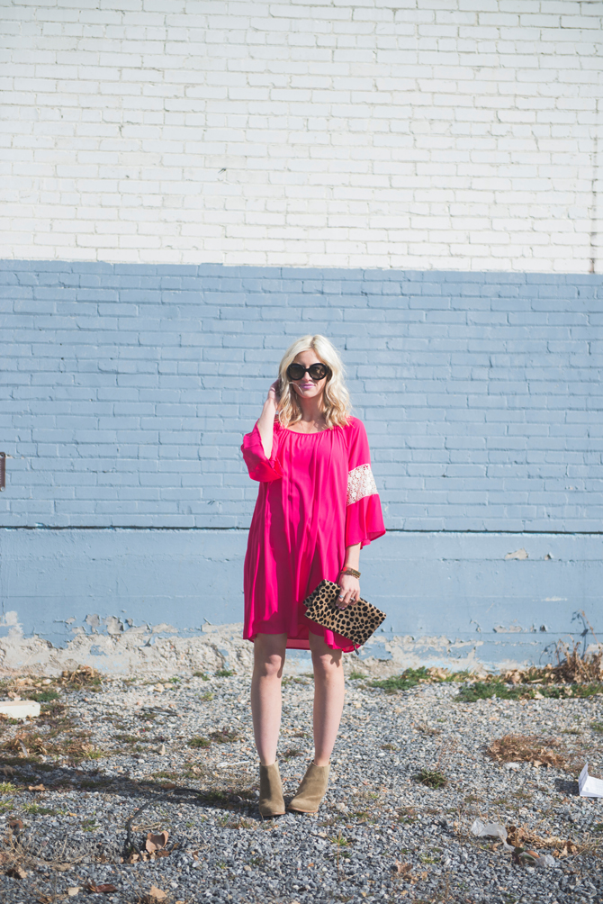 LittleMissFearless_pink boho dress 2