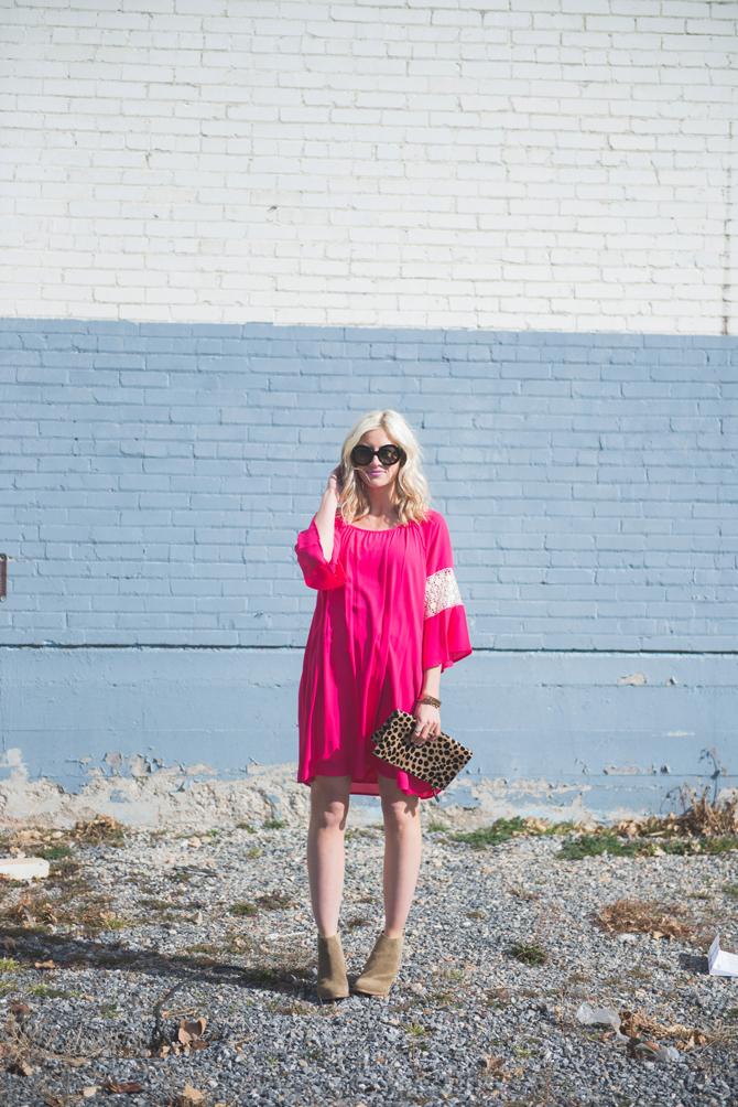LittleMissFearless_pink boho dress 2