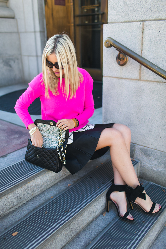 LittleMissFearless_scandal check peplum pink dvf sweater 13