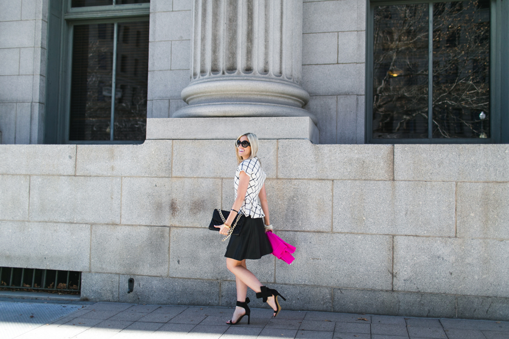 LittleMissFearless_scandal check peplum pink dvf sweater 6