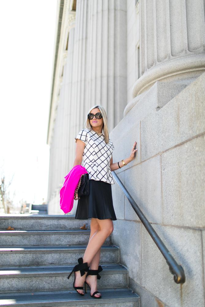 LittleMissFearless_scandal check peplum pink dvf sweater 9