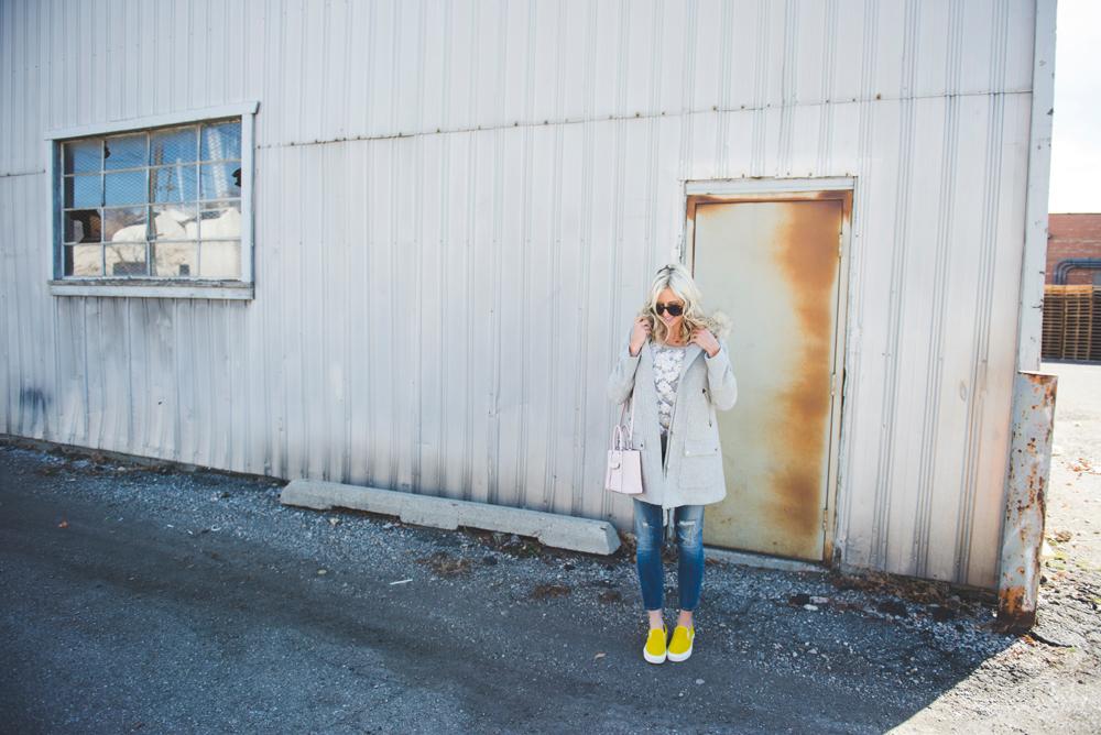 LittleMissFearless_yellow vans gray jcrew coat 13