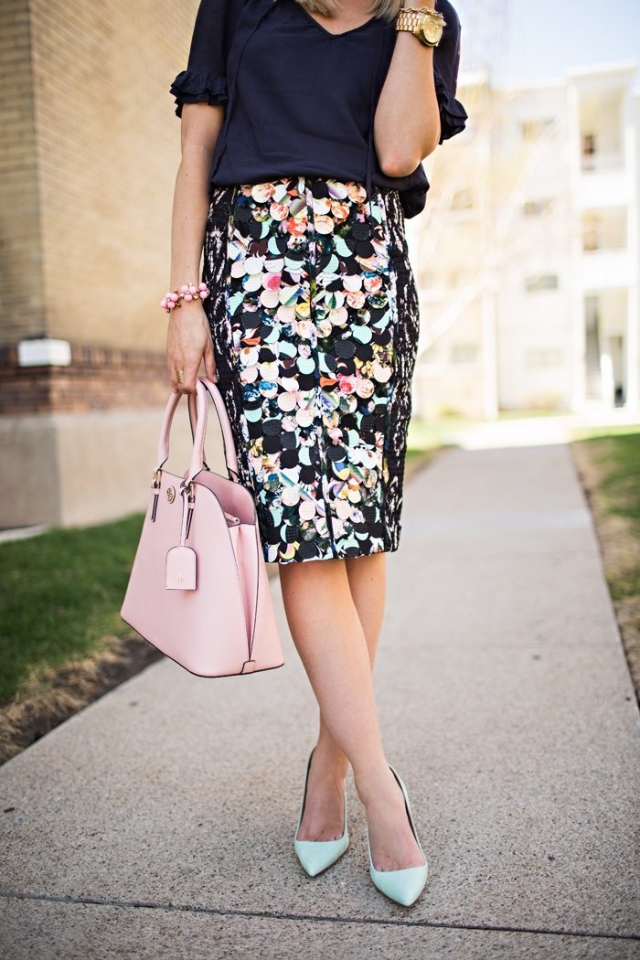 LittleMissFealress_Anthropologie Paillette Pencil Skirt 7