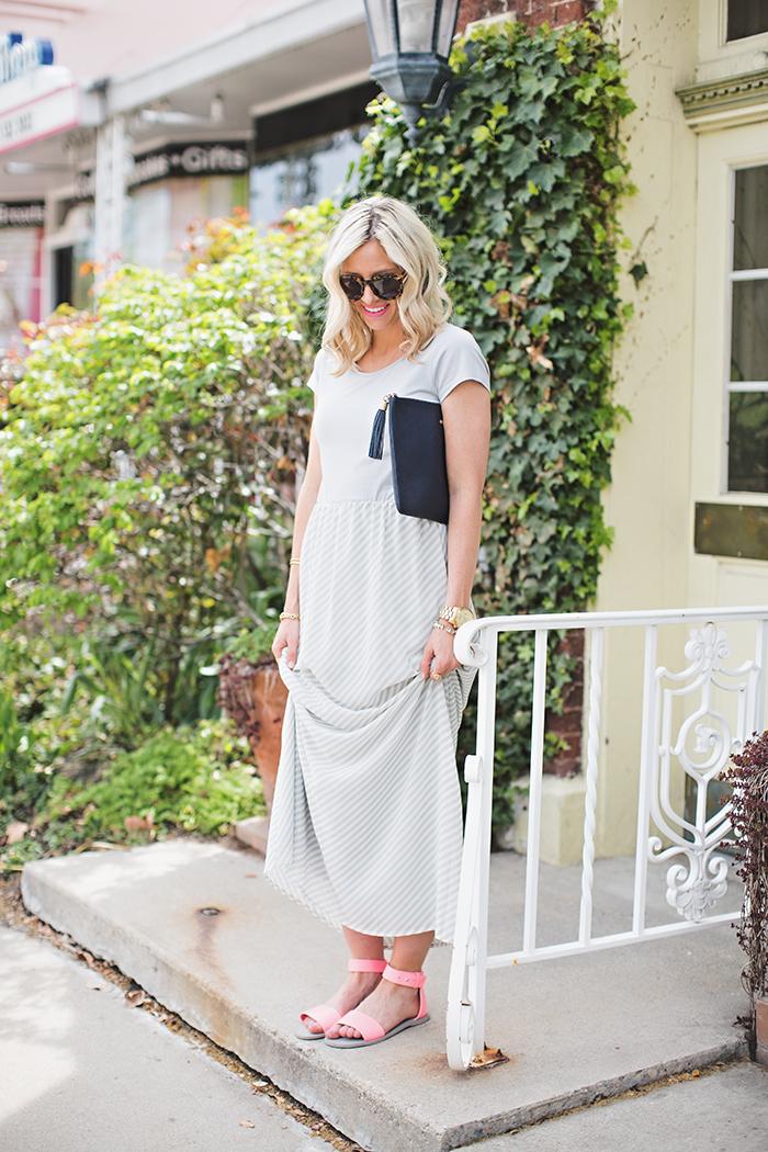LittleMissFearless_DownEast Grey Easy Going Maxi Dress 3