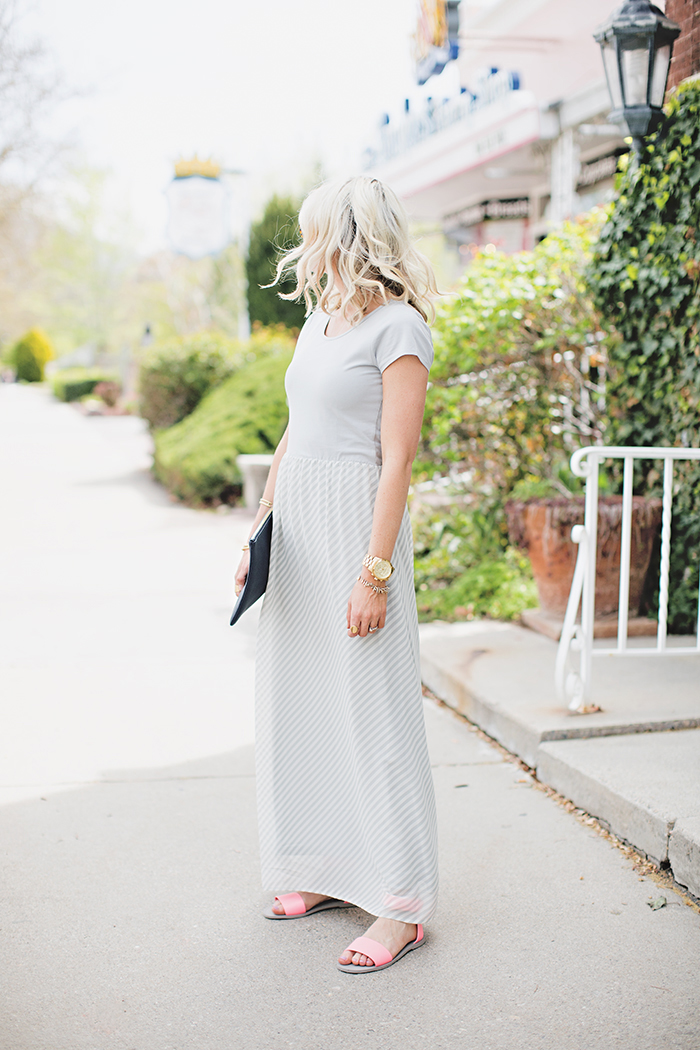 LittleMissFearless_DownEast Grey Easy Going Maxi Dress 6