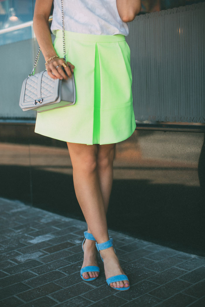 LittleMissFearless_jcrew neon yellow skirt 2