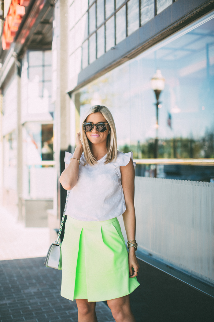 LittleMissFearless_jcrew neon yellow skirt 4