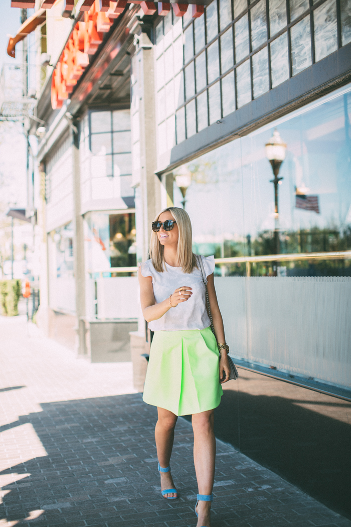 LittleMissFearless_jcrew neon yellow skirt 5