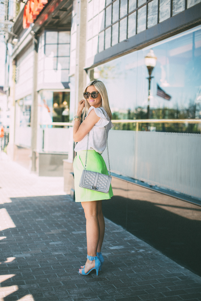 LittleMissFearless_jcrew neon yellow skirt 6