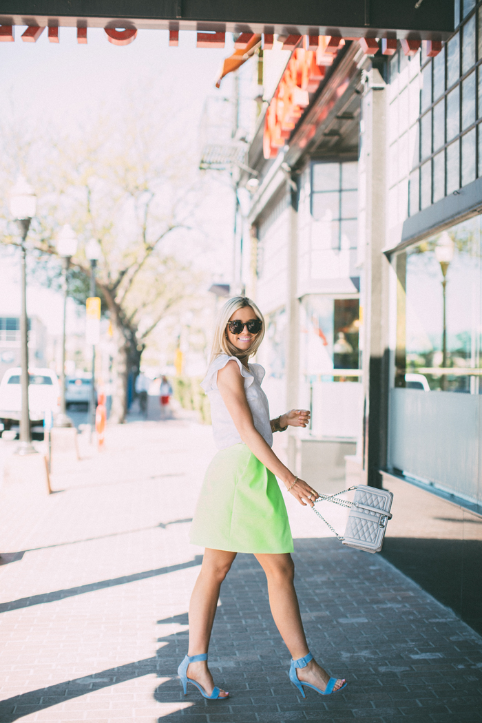 LittleMissFearless_jcrew neon yellow skirt 7
