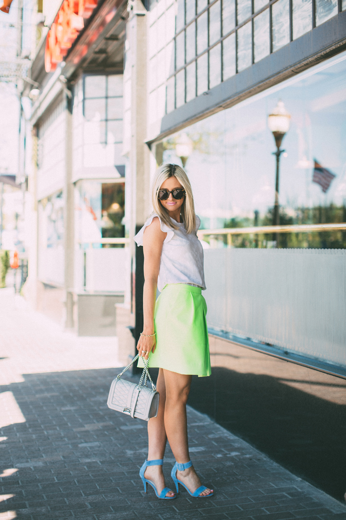 LittleMissFearless_jcrew neon yellow skirt 8