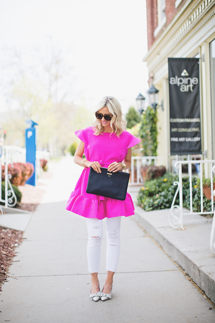 LittleMissFearless_pink cynthia rowley dress 1