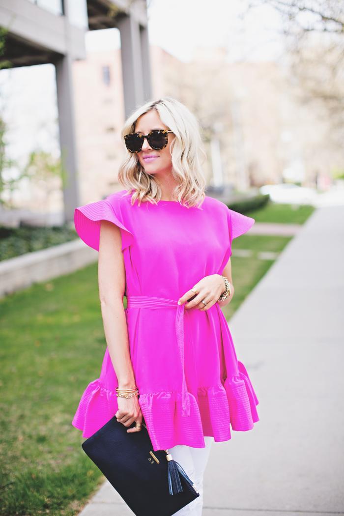 LittleMissFearless_pink cynthia rowley dress 2
