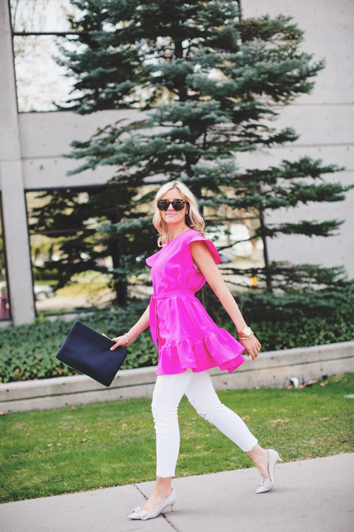 LittleMissFearless_pink cynthia rowley dress 5