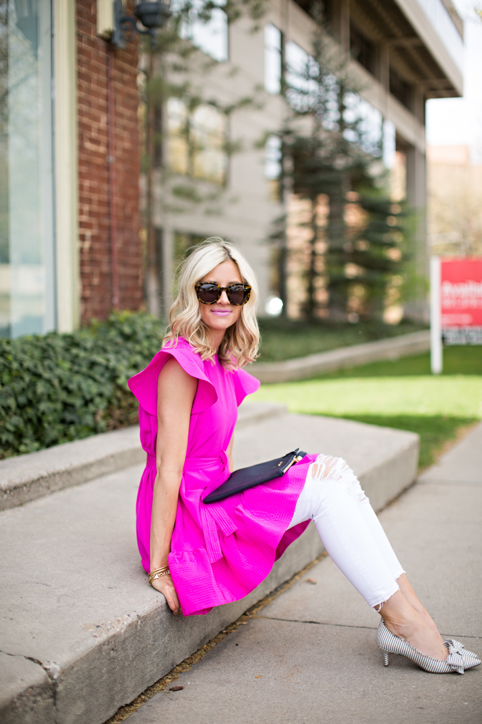 LittleMissFearless_pink cynthia rowley dress 7