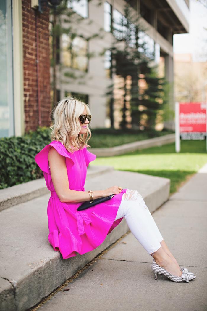 LittleMissFearless_pink cynthia rowley dress 8