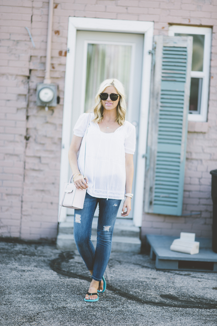LittleMissFearless_SheIn white flowy gauze top 3