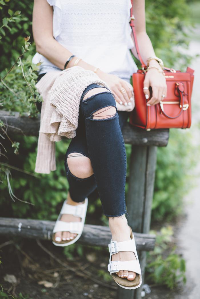 LittleMissFearless_black jbrand jeans white burkenstock sandals 5