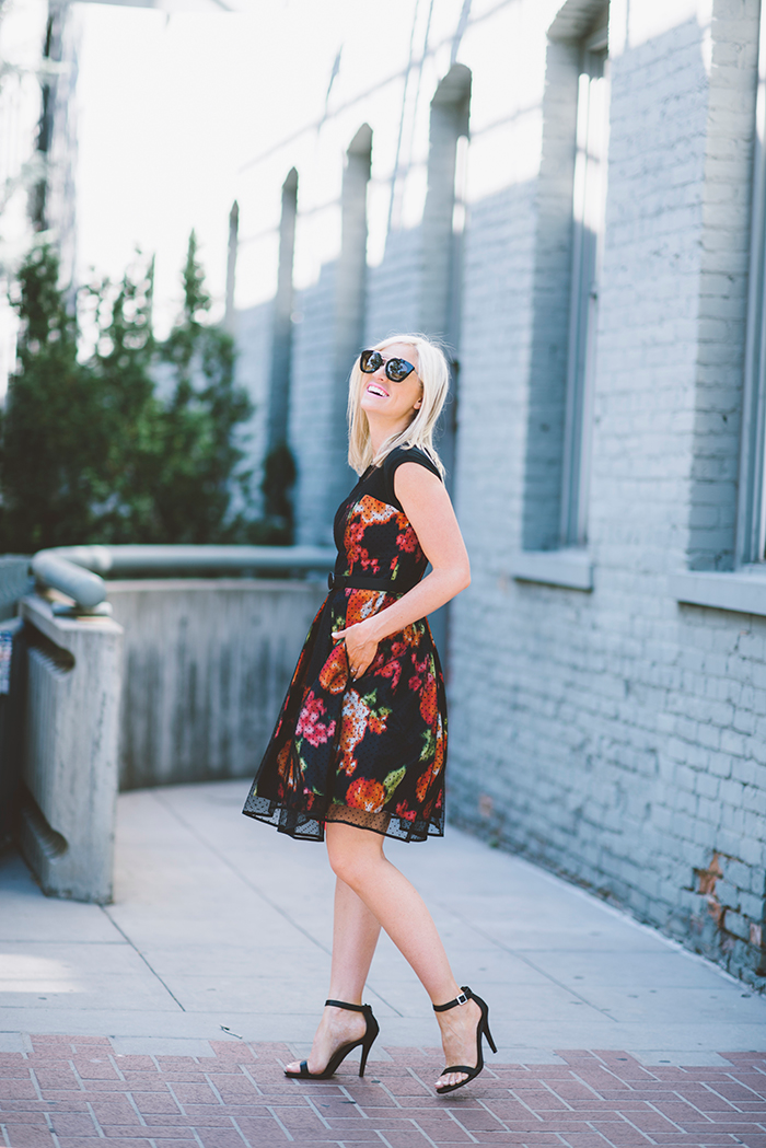 LittleMissFearless_Eliza-J-Dot-Mesh-Overlay-Charmeuse-Fit-&-Flare-Dress-4