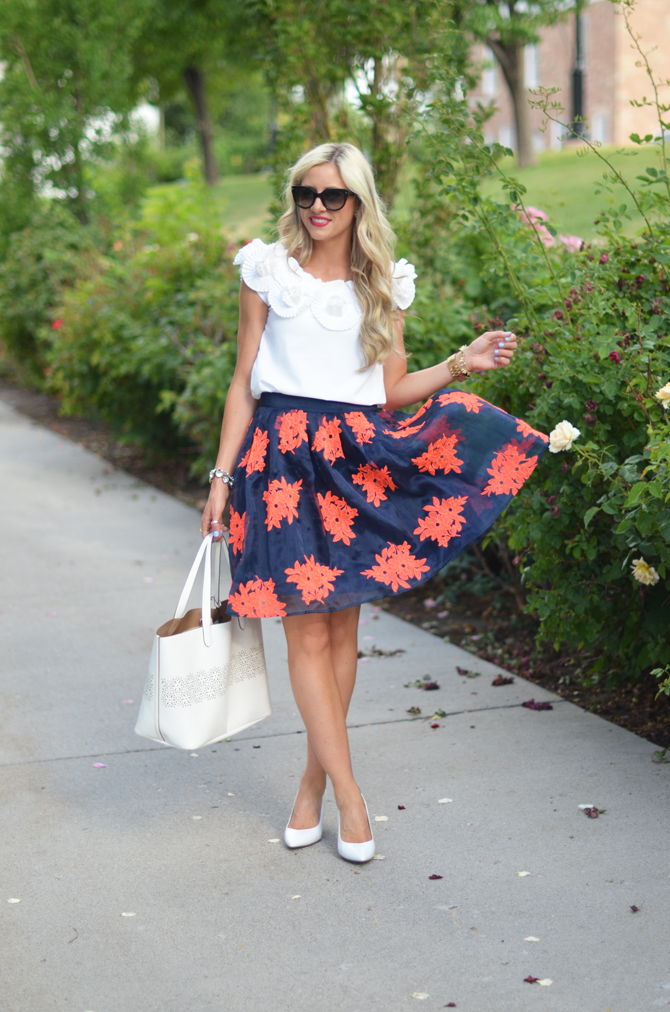 LittleMissFearless_anthropologie floral skirt