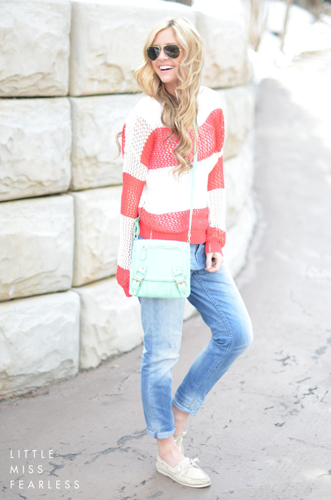 LittleMissFearless_red rugby stripe sweater