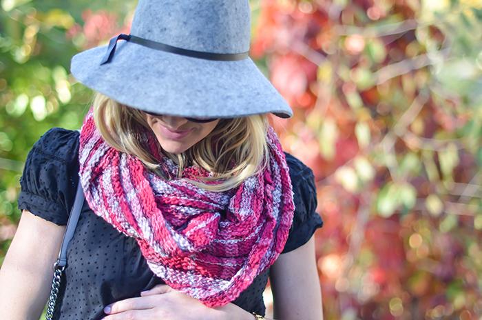 LittleMissFearless_BCBGen plaid loop scarf-14
