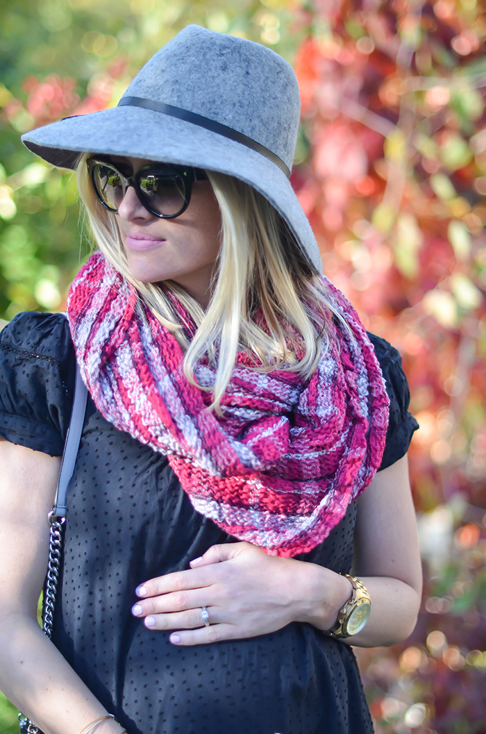 LittleMissFearless_BCBGen plaid loop scarf-15