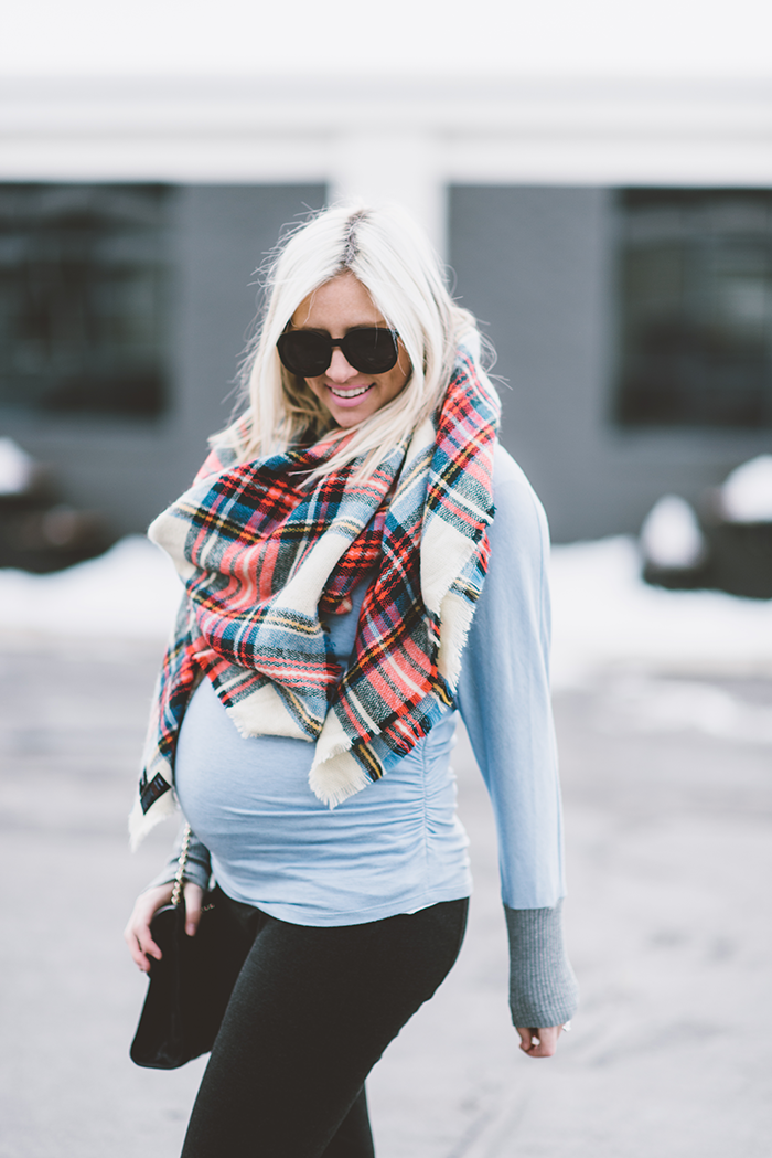 LittleMissFearless_plaid-blanket-scarf-maternity-6