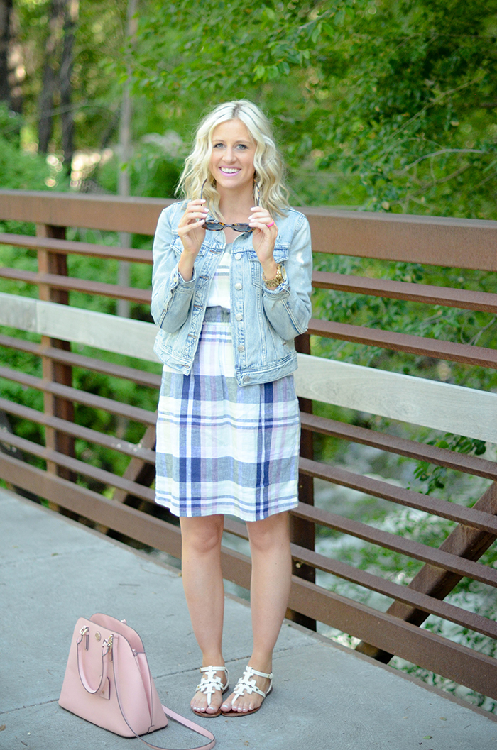 LittleMissFearless_Summer Plaid Old Navy Dress-24