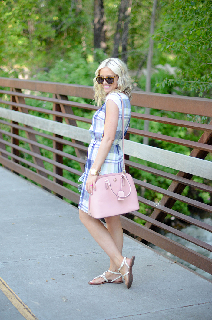 LittleMissFearless_Summer Plaid Old Navy Dress-8