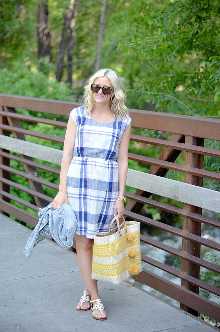 LittleMissFearless_Summer Plaid Old Navy Dress