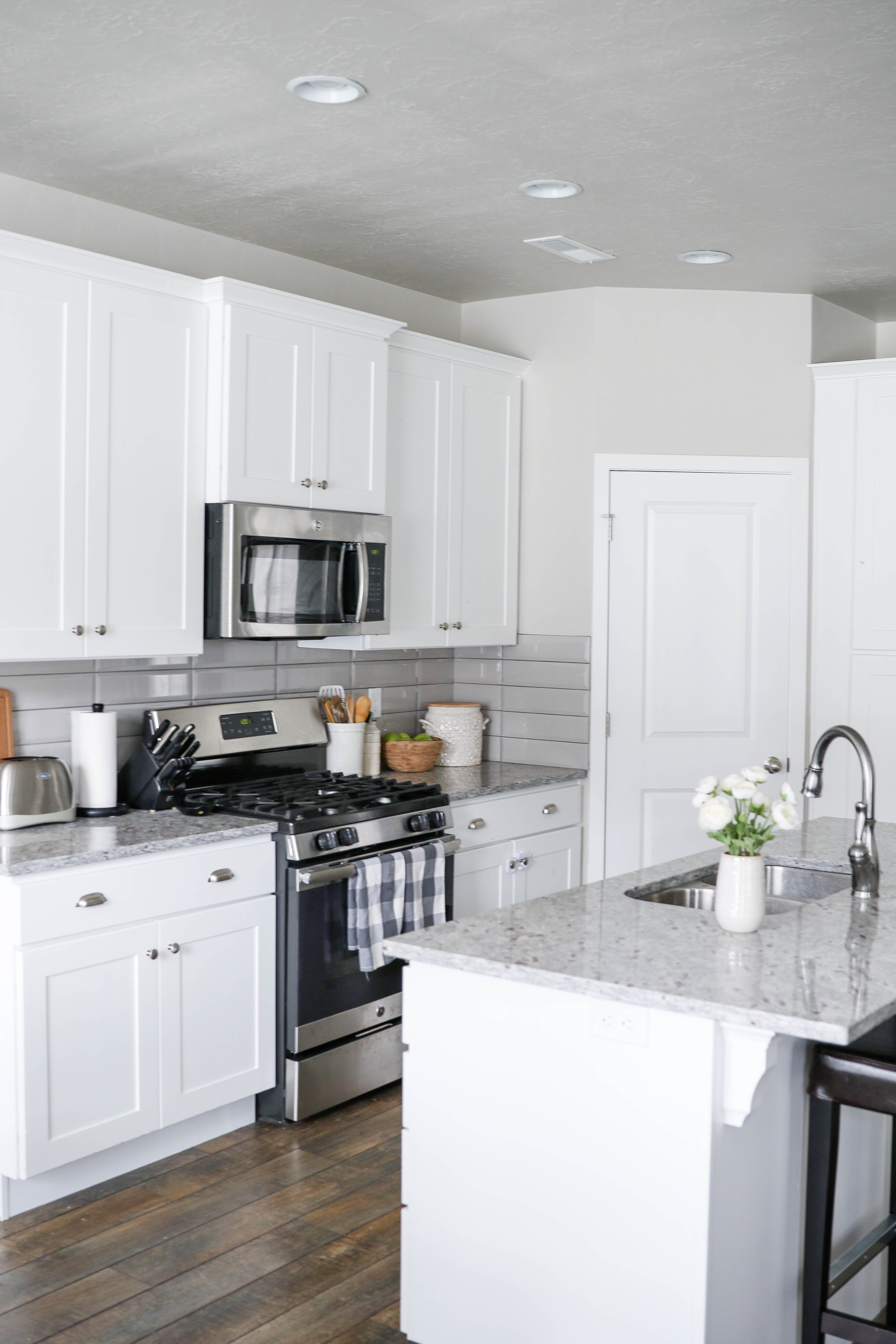 White Kitchen Makeover with Rocky Mountain Painters - Little Miss ...