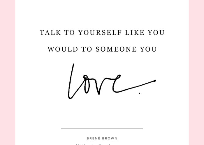 Talk to Yourself…