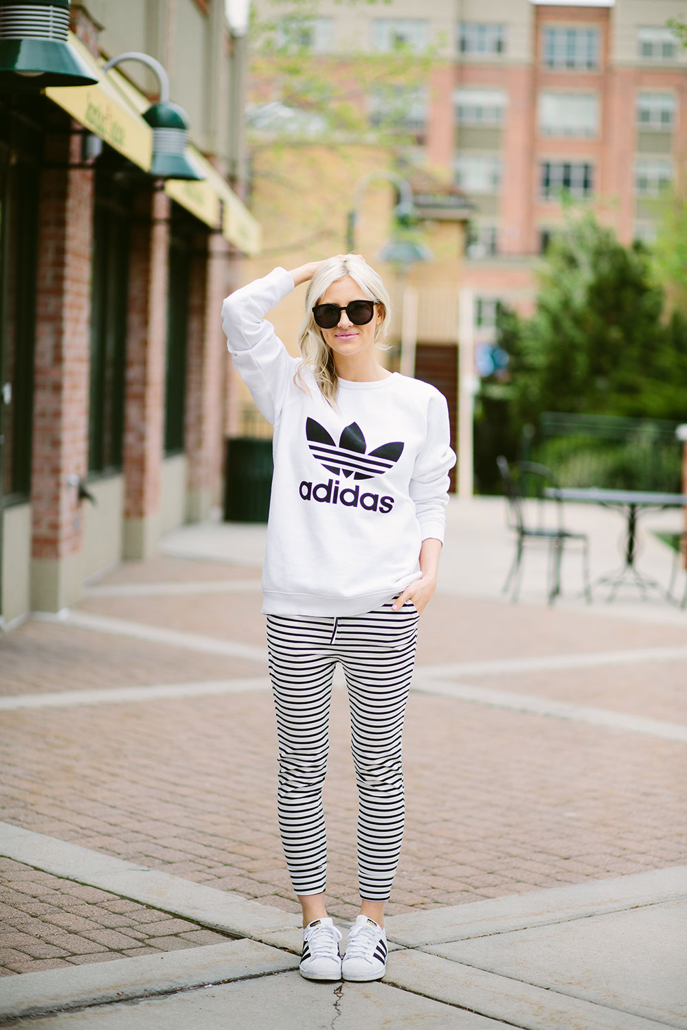 black and white sporty stripes | adidas | asos | Little Miss Fearless