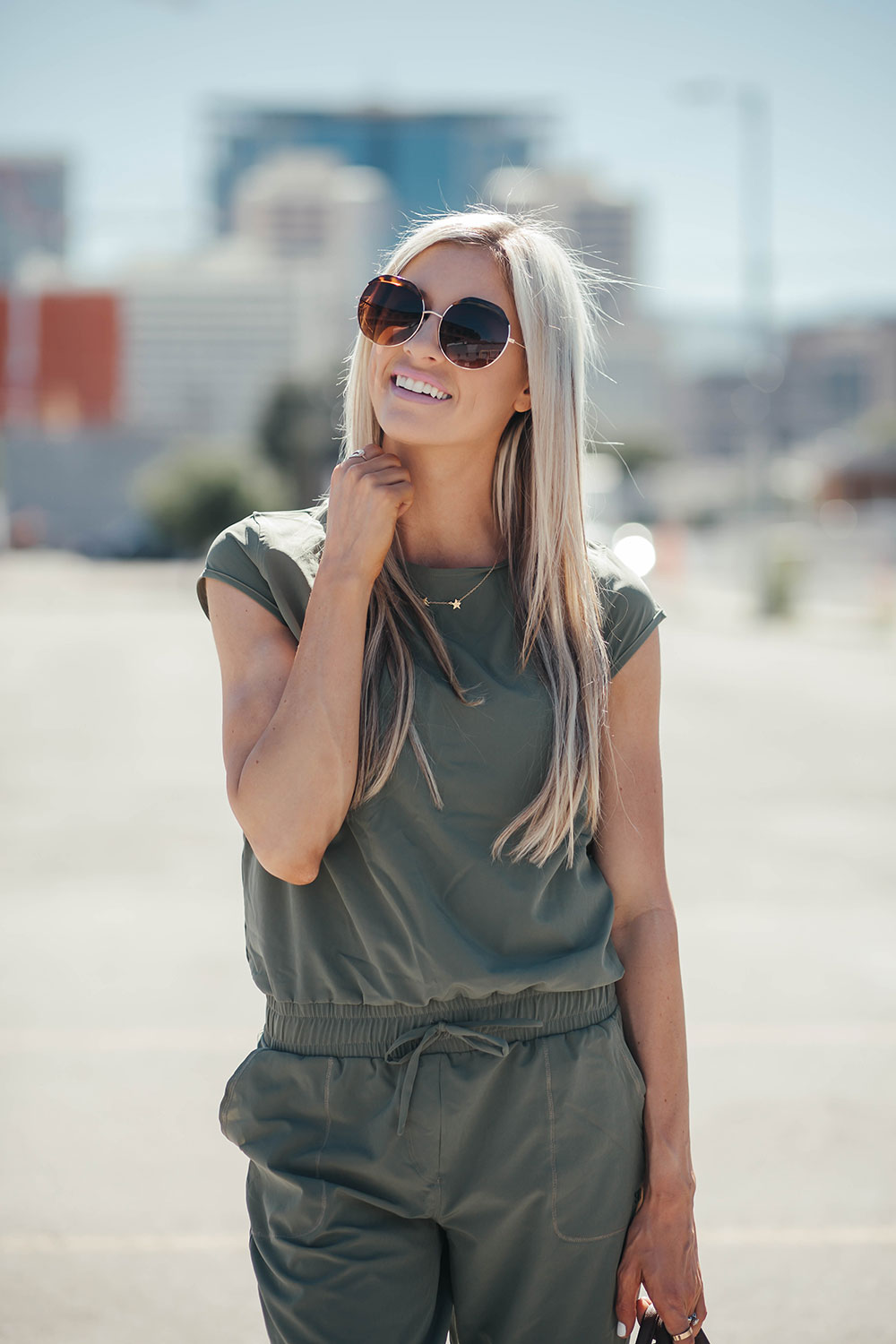 How to wear a jumpsuit 4 ways | summer road trip outfit ideas | how to style a baseball hat | Little Miss Fearless
