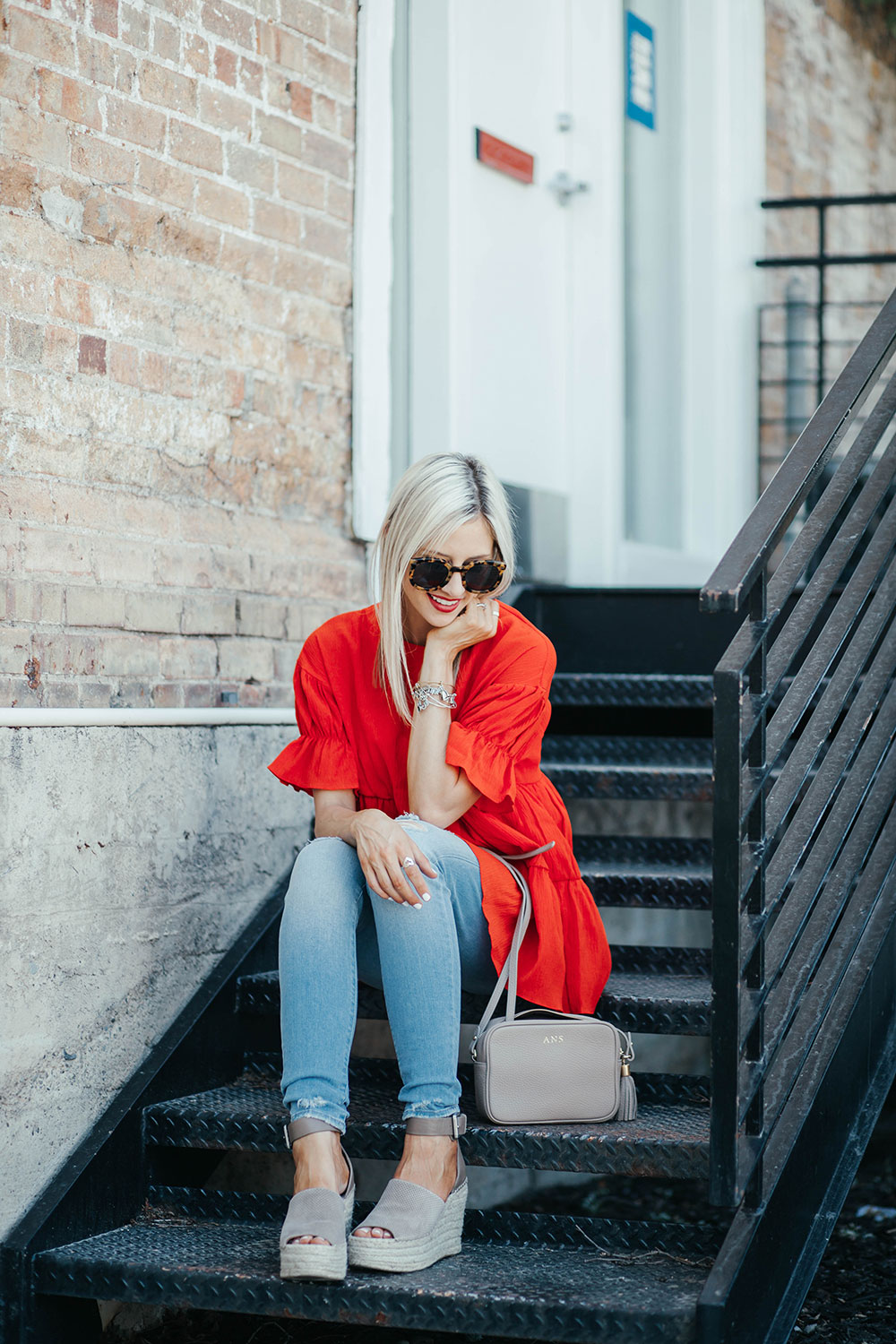 How to make the most of a summer staycation | red outfit ideas | summer outfit ideas | marc fisher wedges | Little Miss Fearless