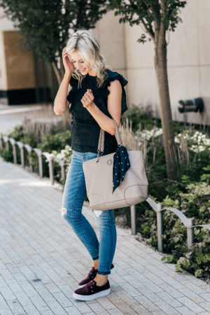 Transitional Fall Outfit Ideas | Nordstrom Anniversary Sale | Affordable fall outfit ideas | Best bags for fall | Best shoes for fall | Little Miss Fearless